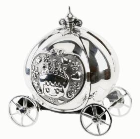 Silver Plated Cinderella Coach Money Box