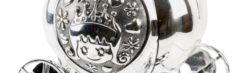 Cinderella moneybox silver plated